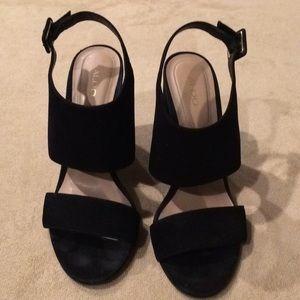 Aldo Black Strapy Heels